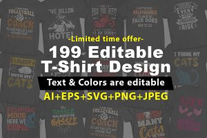 199 Editable T shirt Design