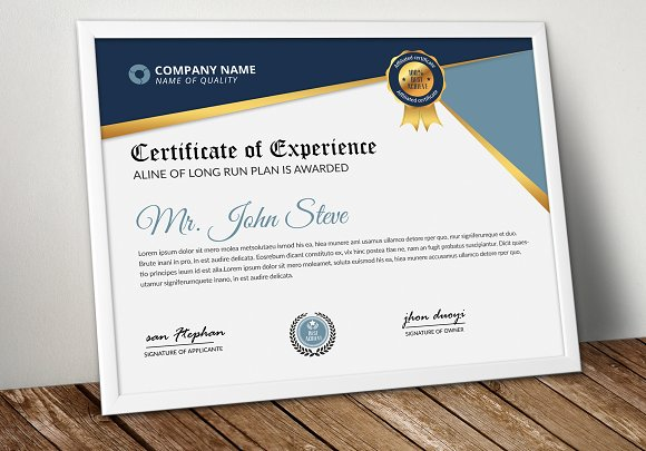 Creative Design Certificate Word