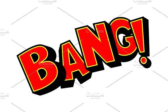 Bang Word Comic Book Pop Art Vector Illustration