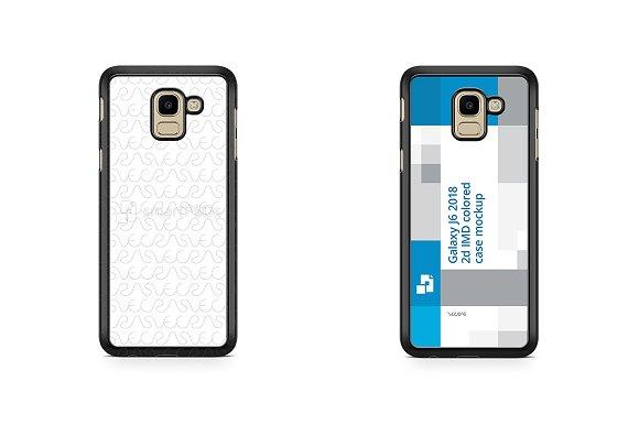 Samsung Galaxy J6 2d PC Colored Case