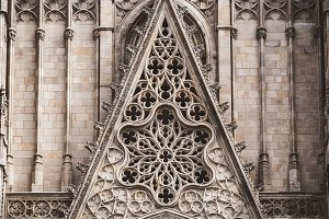 Sculpted filigrees of a cathedral