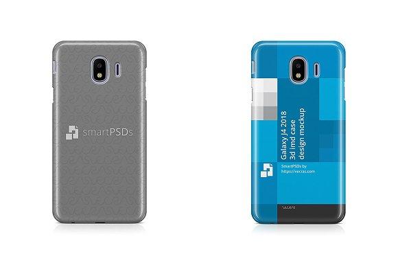 Samsung Galaxy J4 3D IMD Case Mockup