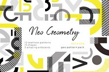 NEO GEO. Geometry pattern set. by Lisa Bukreyeva in Patterns