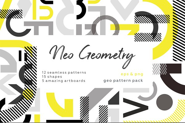 Patterns - NEO GEO. Geometry pattern set.