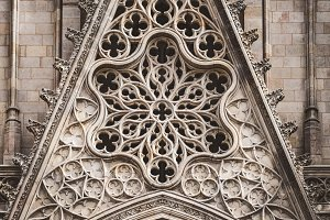 Rose window of a gothic cathedral