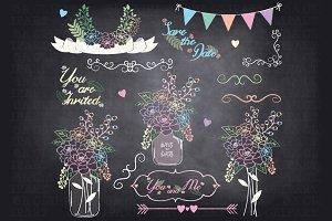 Chalkboard Mason jar Clipart