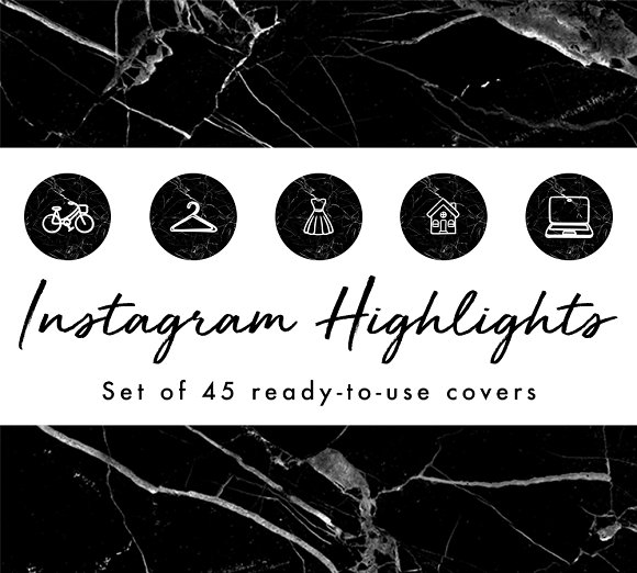 45 Instagram Highlight Icon Covers
