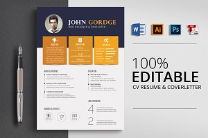 Professional Job CV Resume Word