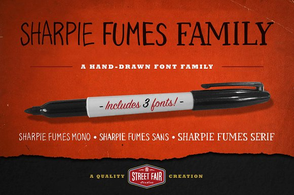 Sharpie Fumes Font Family