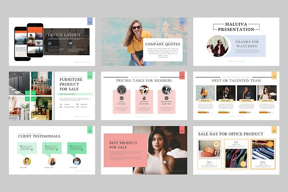 Haluiva Pitch Deck Powerpoint  in PowerPoint Templates - product preview 3