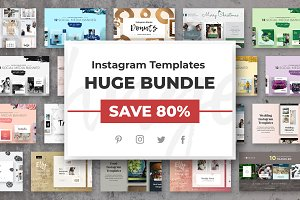 Instagram Templates HUGE BUNDLE