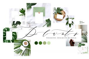 PLANTS. WEDDING MOCKUPS BUNDLE.