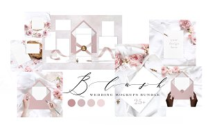 BLUSH. WEDDING MOCKUPS BUNDLE.