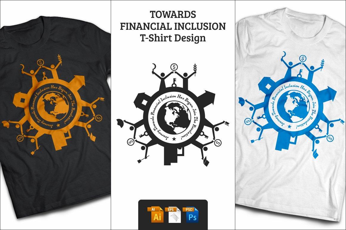 Financial Inclusion T Shirt Design Illustrations Creative Market