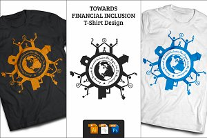 Financial Inclusion T-Shirt Design