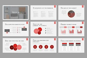 Jedva Pitch Deck Powerpoint Template