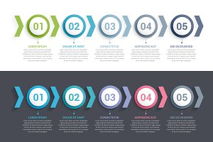 Infographic Template with 5 Elements