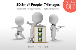 3D Small People - Set 02
