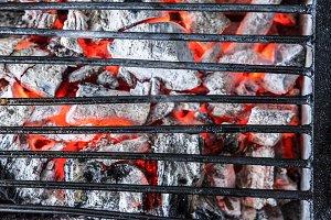 coals and grill