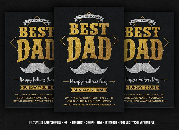 Fathers Day Flyer Template