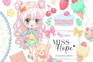 Miss Hope Clipart Set