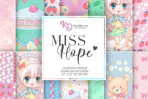 Miss Hope Digital Paper