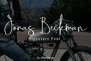 Jonas Beckman - Two Signature Font