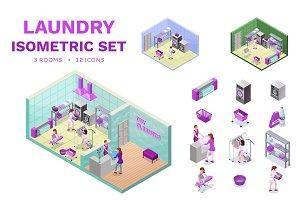 Laundry service isometrics