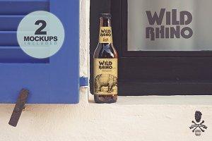 Formentera Window Duo | Beer Mockups