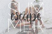 Summer Escape Font Duo