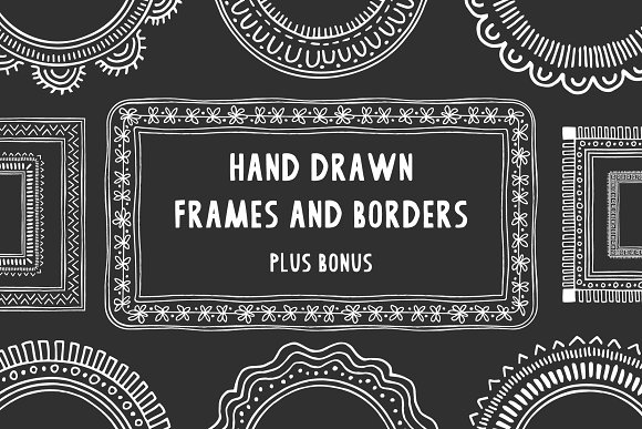 Hand Drawn Frames Borders