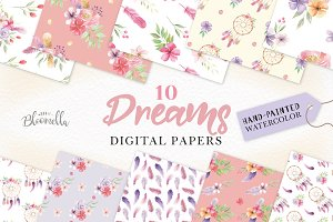 Dreamcatcher Patterns Watercolor Set