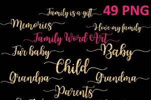 Family Word Art Clipart