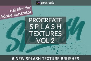 Vol2 Splash Textures for Procreate