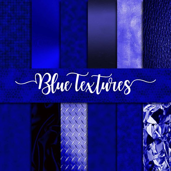 Blue Textures Digital Paper