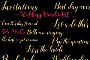 Wedding Word Art Clipart