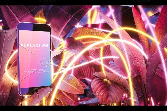 Neon Iphone Mockups Bundle