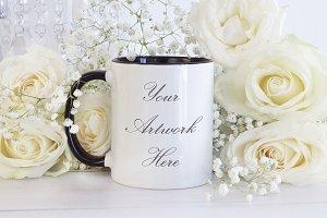 Mug Mockup with Black Handle