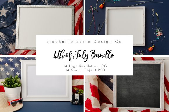4th Of July Styled Mock Up Bundle