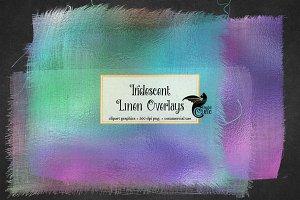 Iridescent Linen Overlays