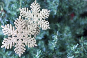 Christmas decoration - two snowflake