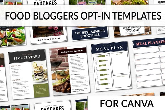 Opt-in Freebie Templates Food Blog