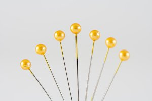 Yellow Sewing Pins