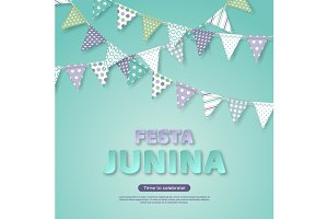 Festa Junina holiday design.