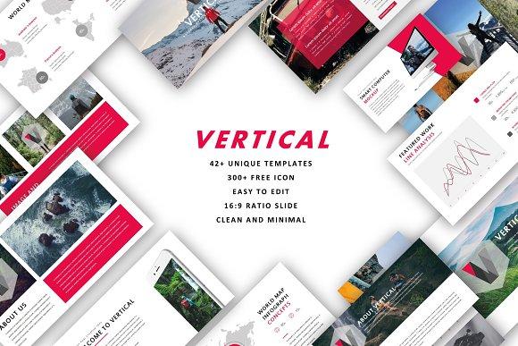 Vertical Keynote Templates