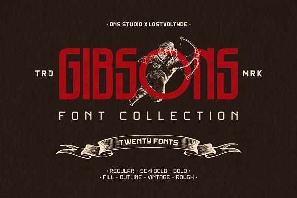 Display Fonts: Ryan Prasetya - Gibsons Font Collection