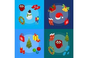 Christmas Celebration Banner Cards