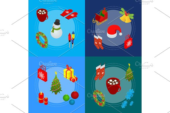 Christmas Celebration Banner Cards