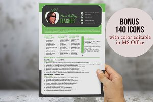 3 in 1 modern Word teacher resume