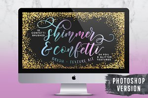 Confetti Brushes & Foil Textures